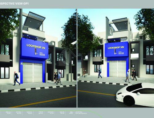 Thiết kế – thi công bảng hiệu cửa hàng LOCKSHOP.VN