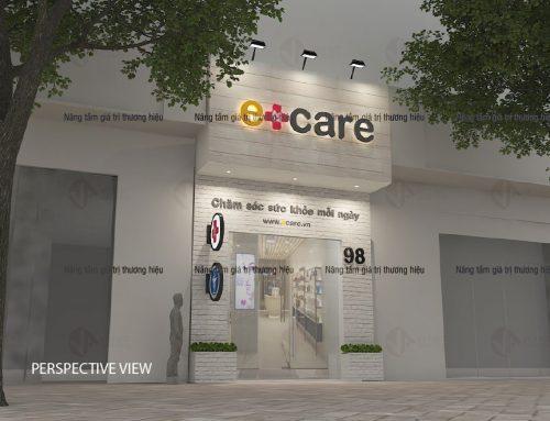 Thiết kế thi công mặt dựng – bảng hiệu showroom ECARE