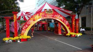 thiết kế thi công cổng chào sự kiện